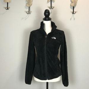 The North Face Fuzzy Black Fleece Jacket Sz XS